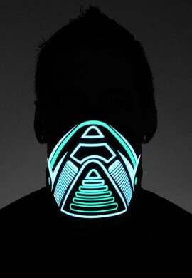 Green Jog LED Mask