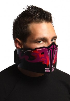 Purple Flare Off LED Mask