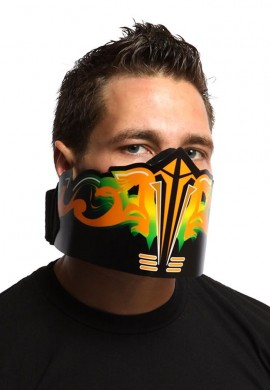 Orange Flare Off LED Mask