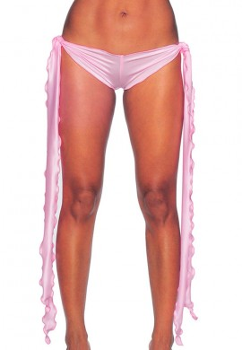 Baby Pink Low Rise Tie Shorts