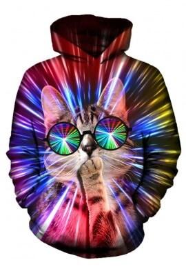 Rave Cat Hoodie