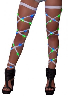 Blue and Green Light Up Leg Wraps
