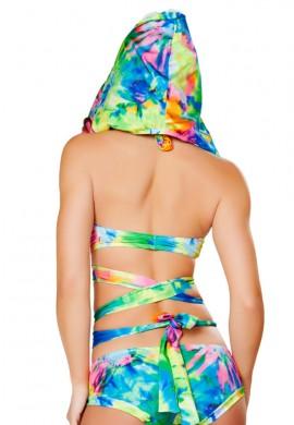 Tie Dye Wrap Top