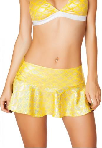 Yellow Mermaid Dance Skirt