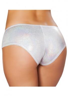 Silver Shimmer Booty Shorts