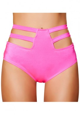 Pink High Waisted Strapped Shorts