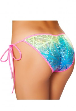 Diamond Hologram Pucker Bikini Bottom