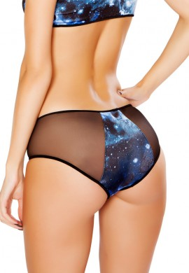 Two Tone Galaxy Booty Shorts