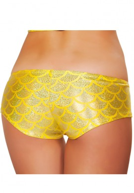 Yellow Mermaid Booty Shorts