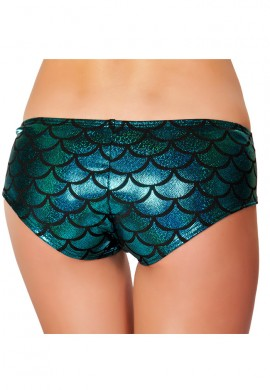 Blue Mermaid Booty Shorts