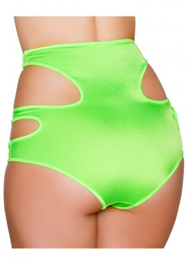 Lime High Waisted Cut Out Shorts