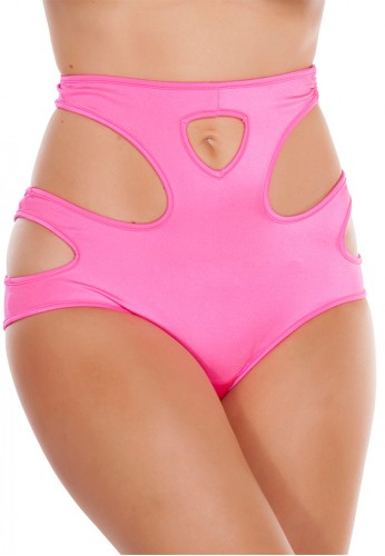Pink High Waisted Cut Out Shorts