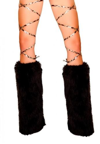 Metallic Leopard Leg Wraps
