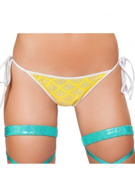 Yellow Mermaid Pucker Back Bikini Bottom