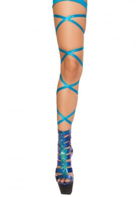 Turquoise Shimmer Leg Wraps
