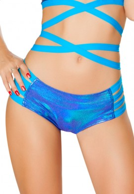 Blue Spectrum Strappy Shorts