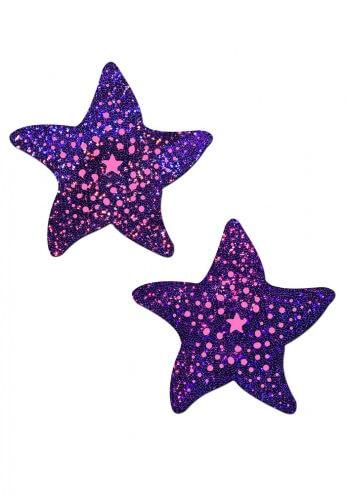 Twinkling Purple Sea Star Nipple Pasties