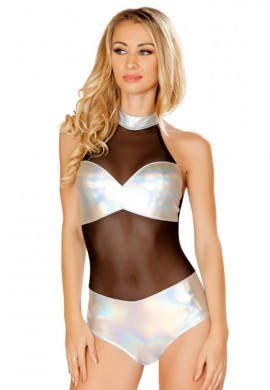 Holographic Tube Romper