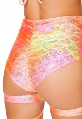 Pink Orange Koi High Waisted Shorts