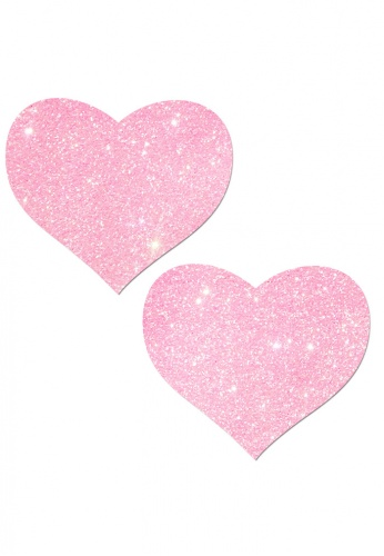 Bubblegum Pink Glitter Heart Pasties