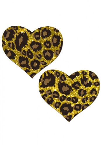 Glittering Cheetah Heart Pasties