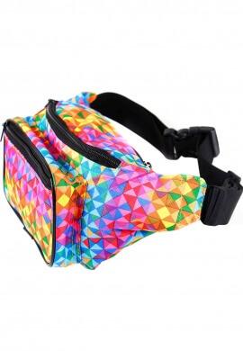 Geometric Rainbow Fanny Pack