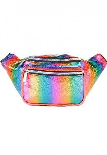 Glitter Rainbow Fanny Pack Holographic Festival Bum Bag