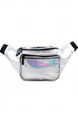 Holographic Silver Fanny Pack