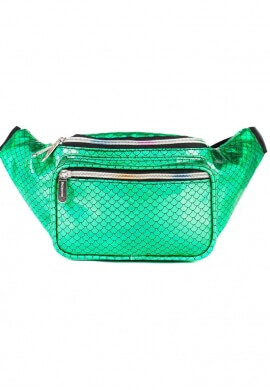 Metallic Green Mermaid Fanny Pack