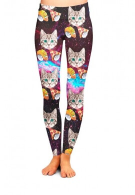Cat Taco Pizza Leggings