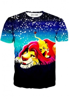 Simba And Mufasa Stars T-Shirt