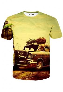 Cat Stunt Driver T-Shirt