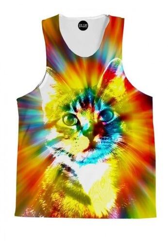 Tie Dye Cat Tank Top
