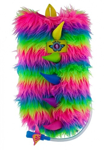 Neon Furry Monster Hydration Pack