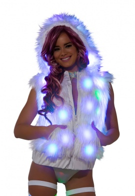Light Up LED Hooded Vest