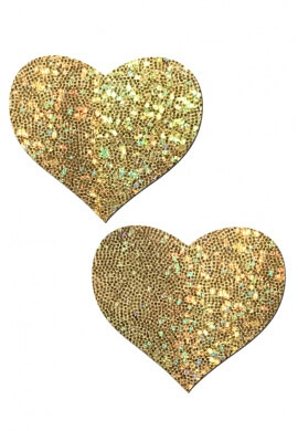 Gold Glitter Heart Pastease