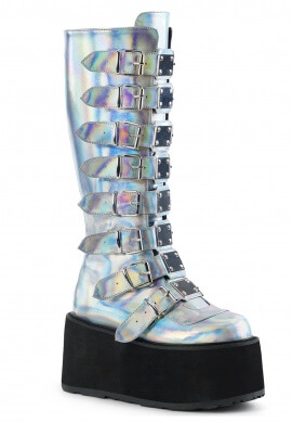 Demonia Holographic Damned-318 Boots
