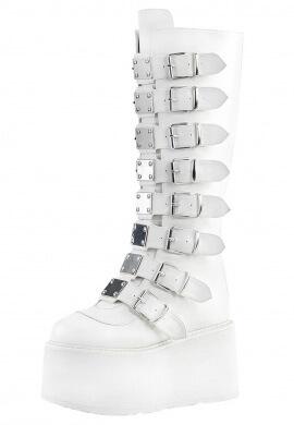 Demonia White Damned-318 Boots