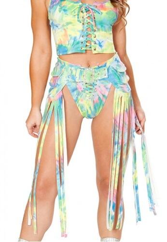 Tie Dye Fringe Hip Pack