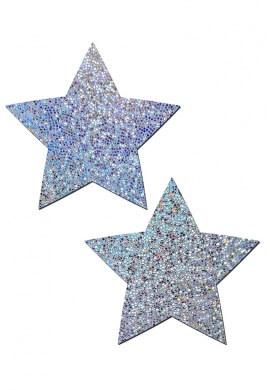 Silver Glitter Star Pasties