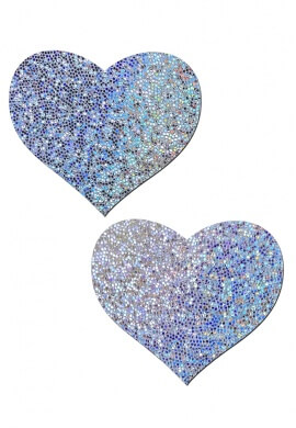 Silver Glitter Holographic Pasties