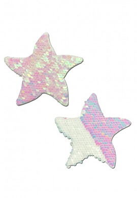 Pearl White Sequin Starfish Pasties