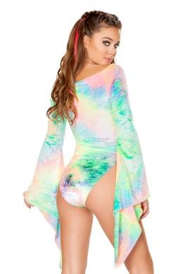 Rainbow Pastel Tie Dye Gypsy Bodysuit