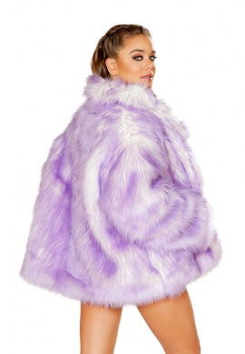 Lavender Tipped Hip Length Coat