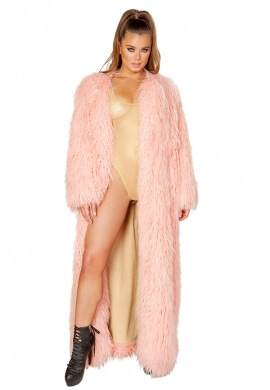 Vintage Rose Full Length Fur Coat