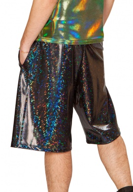 Holographic Black Broken Board Shorts
