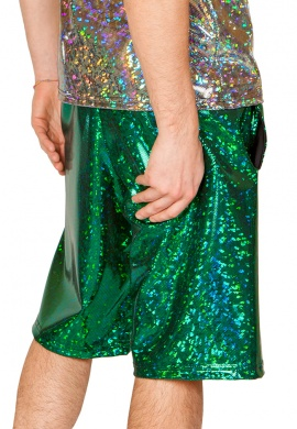 Holographic Emerald Broken Board Shorts