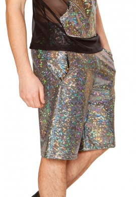 Holographic Broken Mirror Board Shorts