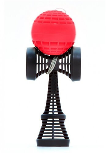Black and Red Catchy Air Kendama
