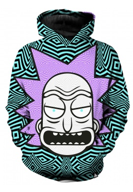 Rick and Morty Teal Hoodie